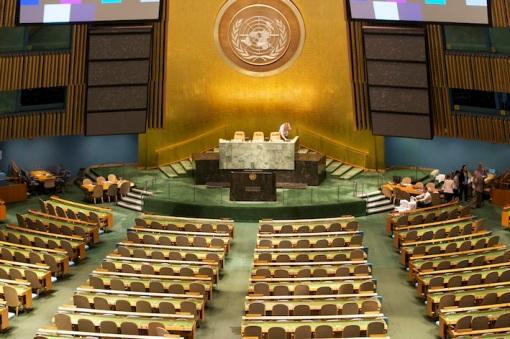 Salle de l'Assemblée Générale de l'ONU. Photo Benoît Muracciole